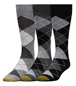 GOLD TOE® Men's Big & Tall 3-Pack Argyle Crew Socks