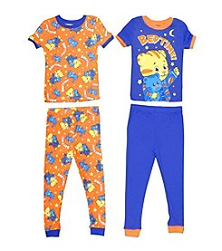 Komar Kids Boys' 2T-4T 4-Piece Daniel The Tiger Pajama Set