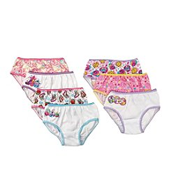 Princess Girls' Shopkins 7-Pack Briefs Underwear