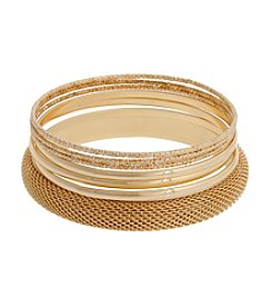 Erica Lyons® Extended Sizes Bangle Bracelet Set
