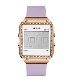 GUESS Women's Lavender Digital Watch