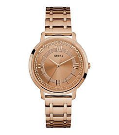 GUESS Women's Rose Goldtone Bracelet Watch