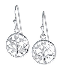 Athra Small Tree Of Life Drop Earrings