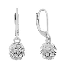 Gloria Vanderbilt® Crystal Leverback Fireball Drop Earrings