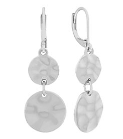 Gloria Vanderbilt® Hammered Drop Leverback Earrings