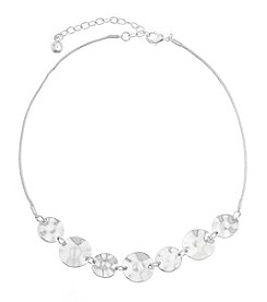 Gloria Vanderbilt® Hammered Frontal Necklace