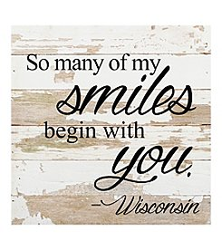 Second Nature by Hand Smiles Begin With You Wisconsin Wall Decor