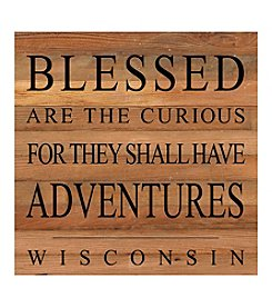 Second Nature by Hand Blessed Are The Curious Wisconsin Wall Decor