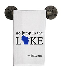 Second Nature by Hand Go Jump In The Lake Tea Towel