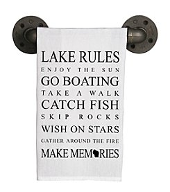 Second Nature by Hand Lake Rules Tea Towel