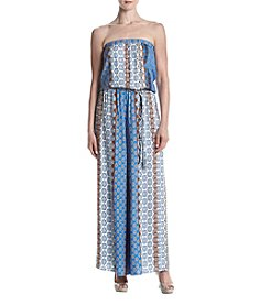 Prelude® Blue Burnout Printed Jumpsuit