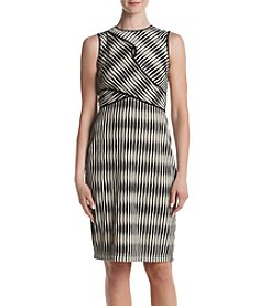 Gabby Skye® Texture Midi Sheath Dress
