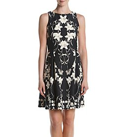 Gabby Skye® Black Floral Print Scuba Dress