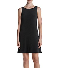 Jessica Howard® Black Shift Dress W/Lattice Back