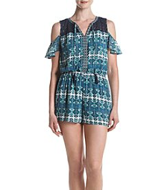 DR2 by Daniel Rainn™ Cold Shoulder Printed Romper