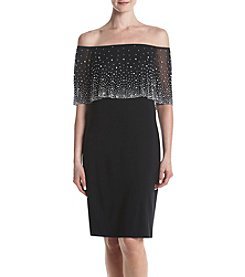MSK® Beaded Off Shoulder Dress
