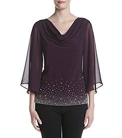 MSK® Draped Beaded Top