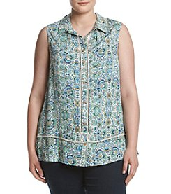 Democracy Plus Size Printed Woven Blouse