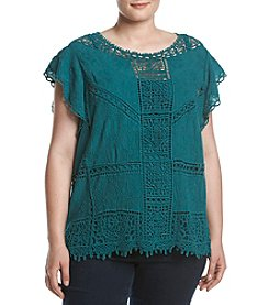 Democracy Plus Size Crochet Lace Top