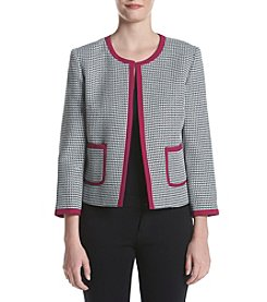 Nine West® Magenta Trim Tweed Jacket