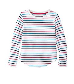 Mix & Match Girls' 4-7 Long Sleeve Striped Tee