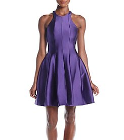 Betsy & Adam® Satin Halter Party Dress