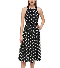 Tommy Hilfiger® Dot Printed Midi Dress