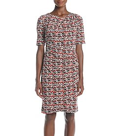 Madison Leigh® Printed Ruched Side Sheath Dress