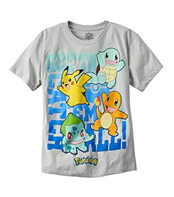 Warner Bros. Boys' 8-20 Short Sleeve Pokemon® Gotta Catch Em All® Tee