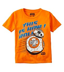 Marvel® Boys' 8-20 Short Sleeve Born To Roll BB-8™ Tee
