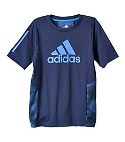 adidas® Boys' 8-20 Short Sleeve Smoke Screen Training Tee