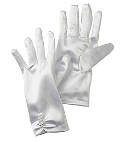 Gerson Girls' Pearl Satin Gloves