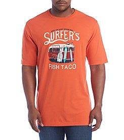Chaps® Men's Big & Tall Short Sleeve Surfer's Fish Taco Tee