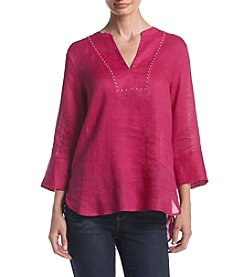 Ivanka Trump® Split Neck Tunic