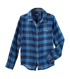 Lucky Brand® Boys' 8-20 Long Sleeve Check Out Shirt