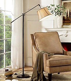 Ore International™ Taylor Bronze Swing Arm Floor Lamp