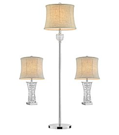 Ore International™ Lunette Glass Lamp Set