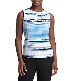 Calvin Klein Petites' Pleat Neck Painted Cami