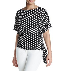 MICHAEL Michael Kors® Plus Size Dotted Tie Top