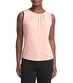 Calvin Klein Petites' Pleat Neck Solid Cami