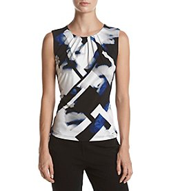 Calvin Klein Geo Pleat Neck Cami