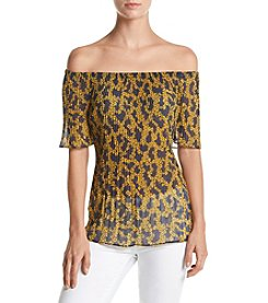 MICHAEL Michael Kors® Pleated Off Shoulder Top