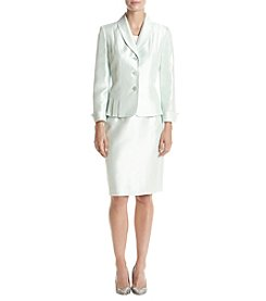 LeSuit® Shawl-Collar Shimmer Skirt Suit