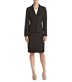 LeSuit® Jacquard 2 Button Skirt Suit