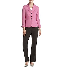 LeSuit® Colorblocked Twill Three-Button Pantsuit