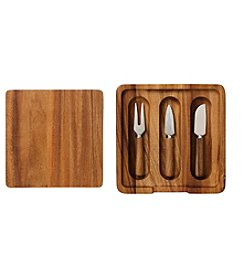 Ironwood Gourmet® Cheese Board and Knife Set
