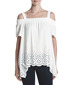 Jones New York® Off Shoulder Eyelet Top