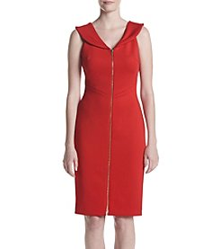 Calvin Klein Scuba Knit Zip Front Dress