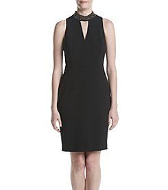 Calvin Klein Halter Jeweled Neck Dress
