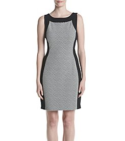 Calvin Klein Solid Trim Printed Dress